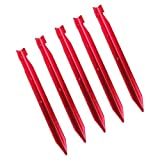 Imported 5pcs T-Shape Outdoor Camping Hiking Awning Tent Sand Pegs Stakes