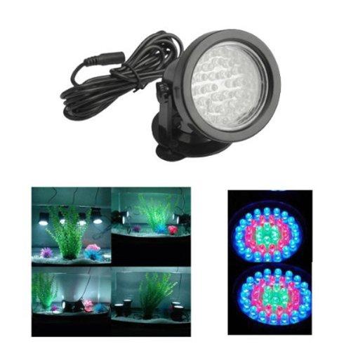 Foxnovo 220V 36-Leds Rgb Color-Changing Led Submersible Spot Light For Aquarium Garden /Pond /Pool /Fish Tank (Black)