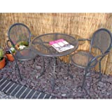Home & Garden Direct Miami Aluminium Round Bistro Set for 2