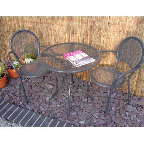Home & Garden Direct Miami Aluminium Round Bistro Set for 2