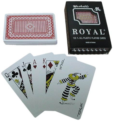 One Red Deck- Royal 100% Plastic Playing Cards /Star Pattern