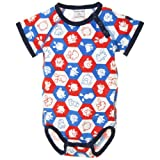 POLARN O. PYRET Newborn Critter Pal Print Bodysuit