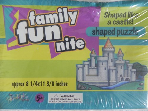 Family Fun Nite Castle Shaped Puzzle