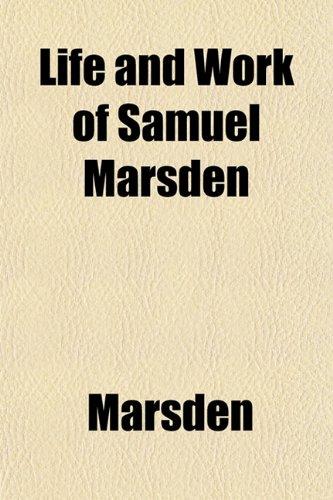 Life and Work of Samuel Marsden