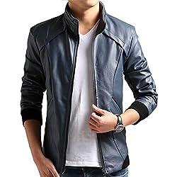 Escelar Men's Faux Leather Jacket EX04