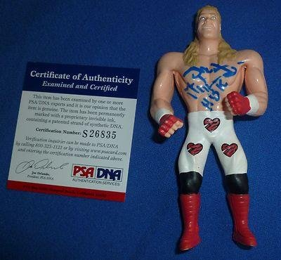 Shawn Michaels Signed Loose Wwf Wwe 1996 Bend-Ems Action Figure Coa To
