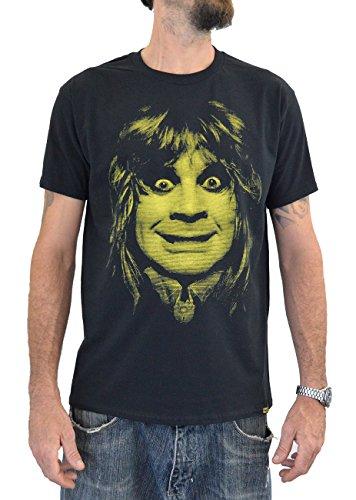 "UTR058 T-shirt Uomo ""OZZY OSBOURNE BAT"" Stampa Serigrafica Manuale ad Acqua (M Uomo)"