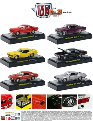 Muscle Cars Collection Series 19, 6Pc Diecast Car Set By M2 Machines 31600-19