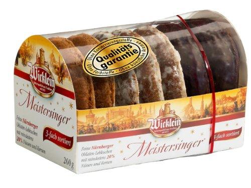 Wicklein Meistersinger Oblaten-Lebkuchen 3-fach sortiert 200g