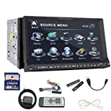 "Ouku Double 2 Din 7"" HD GPS NAV SAT Radio TV BT RDS Ipod Car Stereo DVD Player"