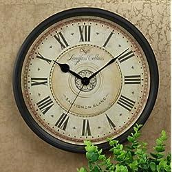 Vintage/retro Iron Round Wall Clock 12 Big Wall Clock Sauvignon Blanc Dial French Antique Style Original Design