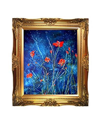 Susan Art Poppies Framed Canvas Print