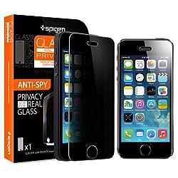 ** R ラウンド 加工 強化 ガラス ** Spigen 【 iPhone 5s / 5 / 5c 】 シュタインハイル GLAS.t R スリム プライバシー (0.4mm) リアル スクリーン プロテクター (覗き見防止 ガラス)【国内正規品】