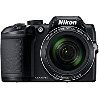 Nikon Coolpix B500 16MP Point and Shoot Camera with 40xOptical Zoom (Black) with HDMI cable + 16 GB SD card + Carry Case