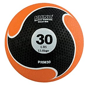 Champion Sports Rhino Elite Medicine Balls, 30-Pound, Orange by Champion Sports