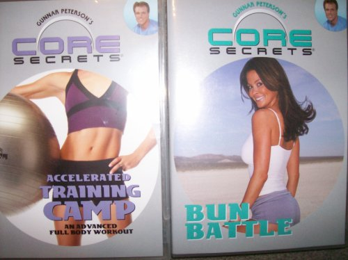 Gunnar Peterson's CORE SECRETS 2 DVD SET: BUN BATTLE & ACCELERATED TRAINING CAMP (An advanced full body workout) with Brooke Burke (Positioning Yoga compare prices)