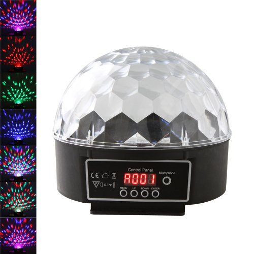 Hkbayi 20W Mini Digital Led Rgb Crystal Magic Ball Effect Light Dmx512 Disco Dj Stage Lighting Us Plug