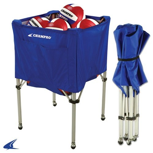 [해외]공 카트를 접어 Champro (블루, × 25 × 40 25)/Champro Fold Up Ball Cart (Blue, 25 x 25 x 40)