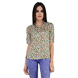 Terquois Printed Cotton Shirt(222_Green_L)