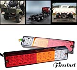 FIRE START 12V 防水 LED テールランプ トラック/トレーラー 牽引 ウィンカー ブレーキ テールライト汎用多用途LED テールライト左右 2個セット