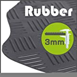 Hyundai Accent 1994 - 1999 Rubber 3mm Black Tailored Floor Mats