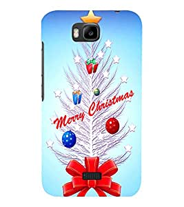 printtech Merry Christmas Gift Ribbon Back Case Cover for Huawei Honor Bee::Huawei Y 5C
