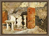 WallsnArt, Abstract Modern Framed Art Work Painting With out glass,House In Pompeii, By Francesco Saverio Altamura (1826-1897)
