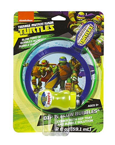 Little Kids Nickelodeon Mini Teenage Mutant Ninja Turtles Dip and Blow Bubbles