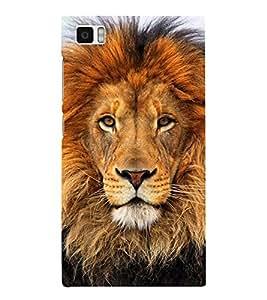 Lion Wallpaper Cute Fashion 3D Hard Polycarbonate Designer Back Case Cover for Xiaomi Redmi Mi3