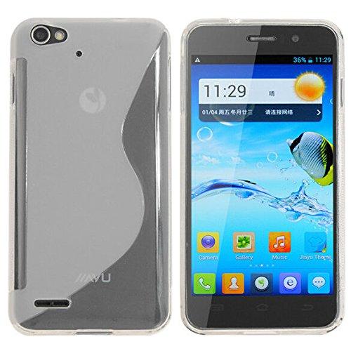 Easbuy Silikon Tasche für JIAYU G4 G4S G4C Smartphone Handy Tasche Hülle Case Handytasche Handyhülle Schutzhülle Etui Case Cover (Weiß)