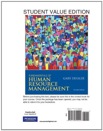 Fundamentals of Human Resource Management, Student Value...