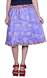 Beautiful Cotton Printed Purple Skirt From the house of Pezzava