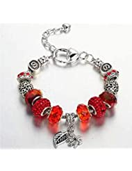 Red Stone Trendy Zircon Butterfly Charm Bracelet For Girls And Women By YELLOW CHIMES