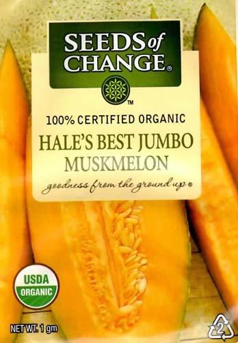 Seeds of Change Organic Hale's Best Jumbo Muskmelon Seeds - 1 gram