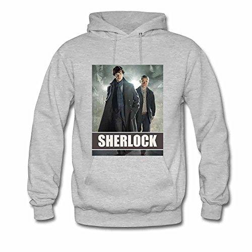 Women's Hoodie Sherlock Holmes and Doctor John Watson Sweatshirt XL