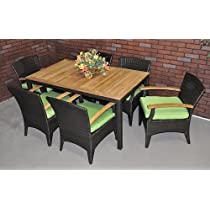 Image of Rattan/Teak Patio Set