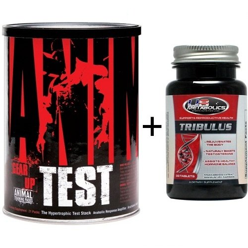 UNIVERSAL NUTRITION ANIMAL TEST 21 PACKS + TRIBULUS - TESTOSTERONE BOOSTER