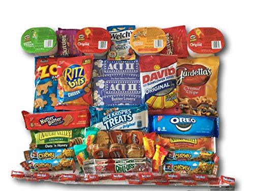 Sweet Salty & Savory Snacks Care Package by AtHomePlus (40 Count) --Perfect Gift for College Dorm, Military or Office!! (American Care Package compare prices)