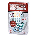 Cardinal Double 12 Color Dot Dominoes in Tin (Styles May Vary) ~ Cardinal