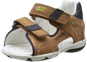 Geox B SANDAL ELBA BOY A - Zapatos primeros pasos de cuero para niño de Geox