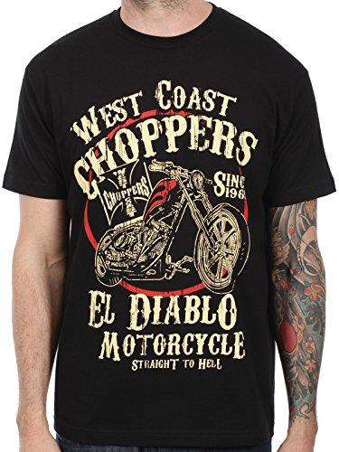 T-Shirt West Coast Choppers El Diablo Nero (S , Nero)