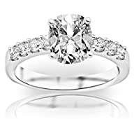 1.03 Carat GIA Certified Classic Prong Set Diamond Engagement Ring (I Color, SI1 Clarity) – Cushion…