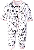 Little Me Baby-Girls Newborn Perfect Poodle Footed Bodysuit