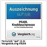 PEARL Knoblauchpresse mit Dosier-Spindel -