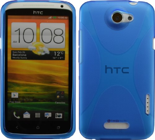 Blue X-Line Flexible Tpu Case For Htc One X At&T New Crystal Candy