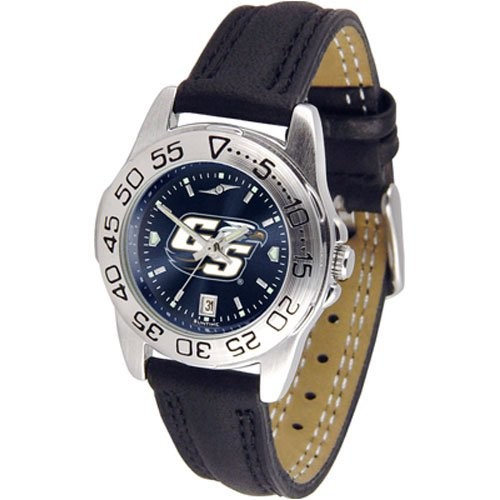 Suntime Georgia Southern Eagles Ncaa Anochrome Sport Ladies Watch Leather Band