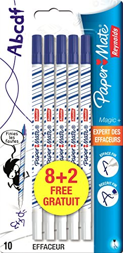 Papermate Reynolds Magic + Effaceur réécriveur - Lot de 10