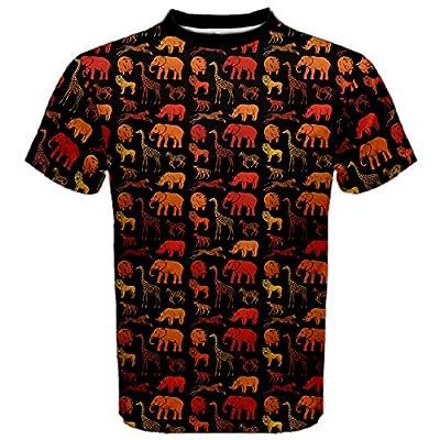 Dark Pattern With African Animals Men's Sport Mesh Tee
