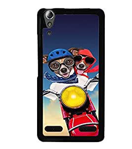 Fuson Premium Joy Ride Metal Printed with Hard Plastic Back Case Cover for Lenovo A6000