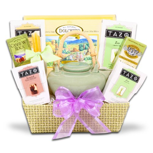 Springtime Zen Tazo Tea Gift Set W/ Walker'S Cookies And Biscotti